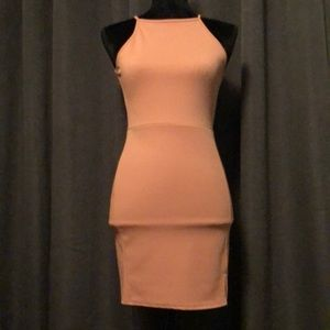 Missguided coral dress NWOT